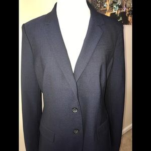 Banana Republic Navy Wool Blazer. Size 12